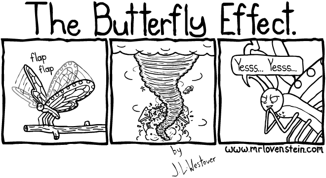 The Butterfly Effect. flap flap Yesss... Yesss...